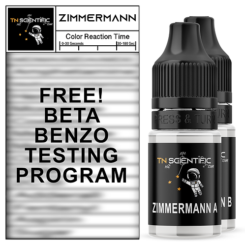 TN Scientific   FREE Zimmermann Reagent BETA BENZO TESTING Program