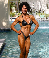 MuscleMakerSue after prejudging at the 2013 NPC Nationals.