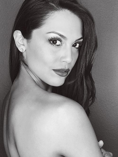 Raquel Pomplun 8x10 Black&White Headshot