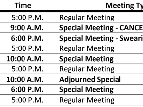 """City Council Continues to Schedule """"Special Meetings,"""" Straining Public Participation"""