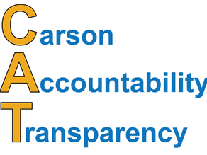 "Reform Group Launches as ""CAT"": Carson Accountability and Transparency"