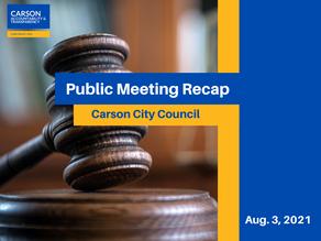 Council Meeting Recap: Aug 3, 2021