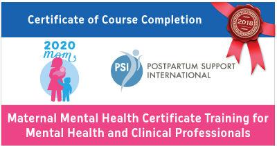 Postpartum support international badge