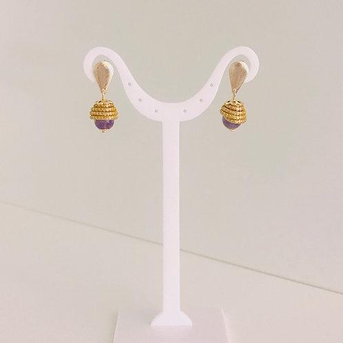 Boucles d'oreilles Améthyste