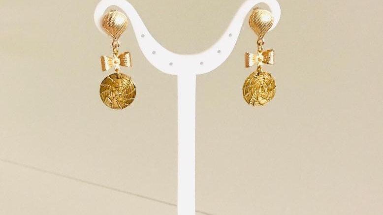 Boucles d'oreilles Noeud  papillon