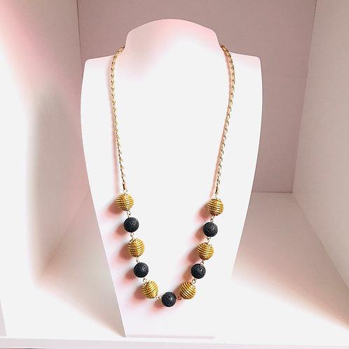 Collier Perles Volcaniques