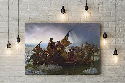 Washington Crossing the Delaware, Leutze, Custom Raised Canvas or Poster Art