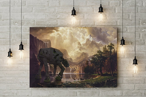 Silent Sentinel of the Lake, Star Wars Parody, Custom Canvas or Poster