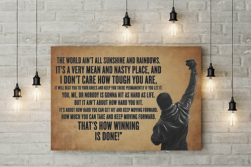 How Winning is Done Boxing Motivational Custom Made Canvas or Poster Art