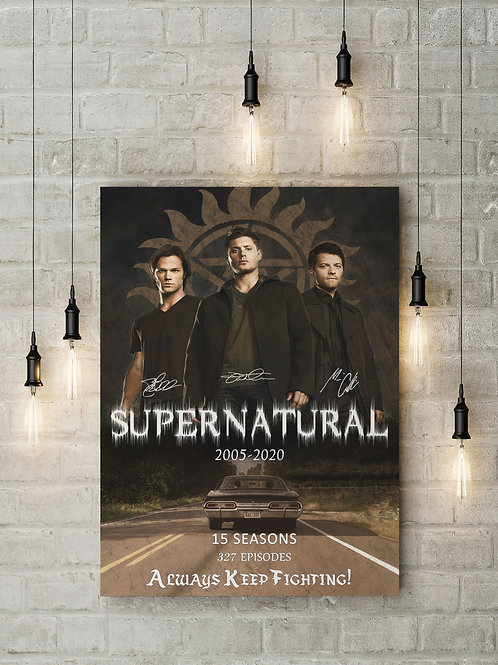 A Supernatural Anniversary, Custom Raised Canvas or Poster Art