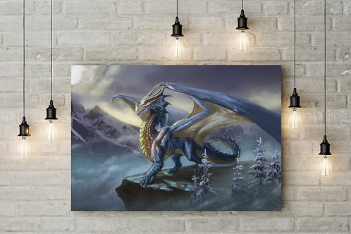 Majesty of the Ice Dragon, Custom Canvas or Poster Art