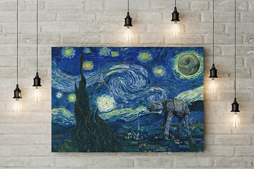 An Imperial Invasion During a Starry Night, Custom Canvas or Poster Art