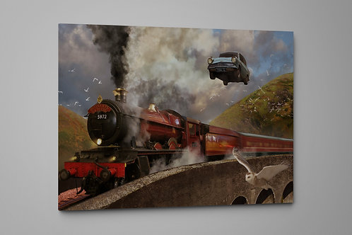 Late for School in a Wizarding World, Custom Made Canvas or Poster