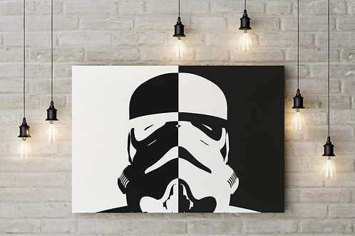 Storm Trooper Pop Art, Imperial Style, Custom Raised Canvas or Poster