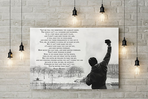Life Ain't Rainbows Rocky Inspirational Canvas or Poster Art