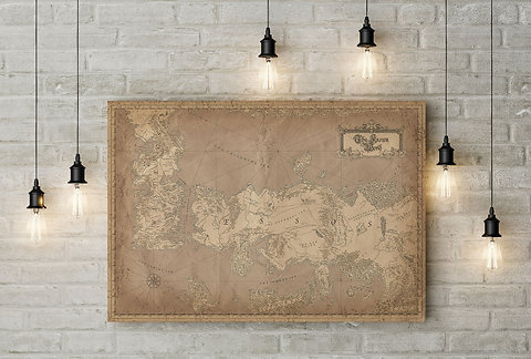 Game of Thrones Inspired Westeros & Essos Known World Map, Canvas or Game Of Thrones Map The Known World on game of thrones continents, game of thrones world map pdf, game of thrones maps and families, ice and fire world map, sca known world map, game of thrones chart,