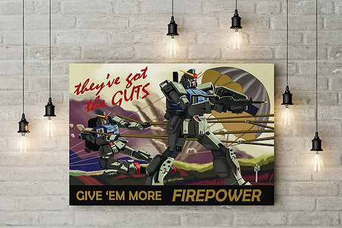 The Federation Needs You, Mobile Suit, Custom Raised Canvas or Poster Art