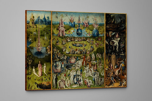 The Garden of Earthly Delights, 1490 Bosch, Custom Raised Canvas or Poster Art
