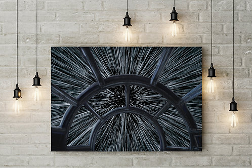 Great Frontier, Cockpit View Hyperspace Jump, Custom Made Canvas or Poster