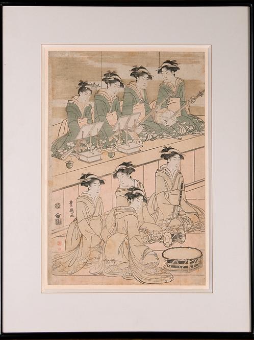 Utagawa Toyokuni - Musizierende Damen