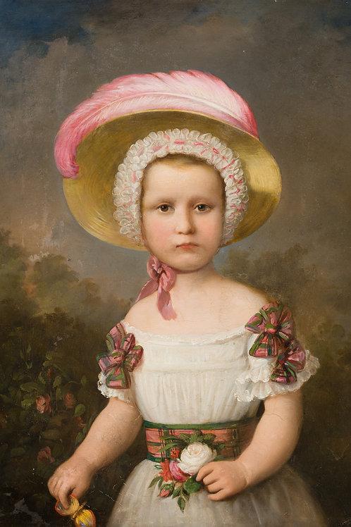 Mädchenportrait. England 19. Jahrhundert