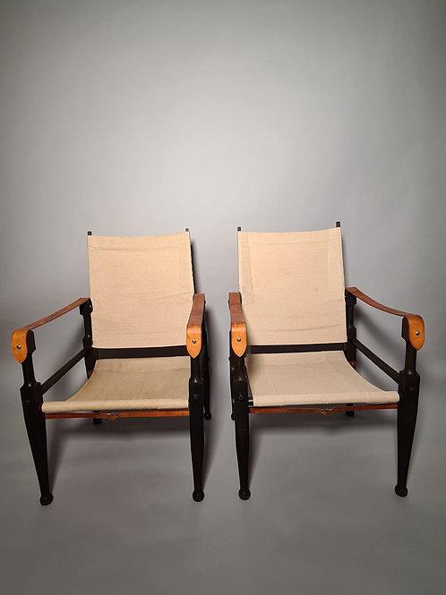 Paar Original Safari Chair, Albert Kienzle
