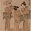 Thumbnail: Torii Kiyonaga - Hofdame mit zwei Dienerinnen
