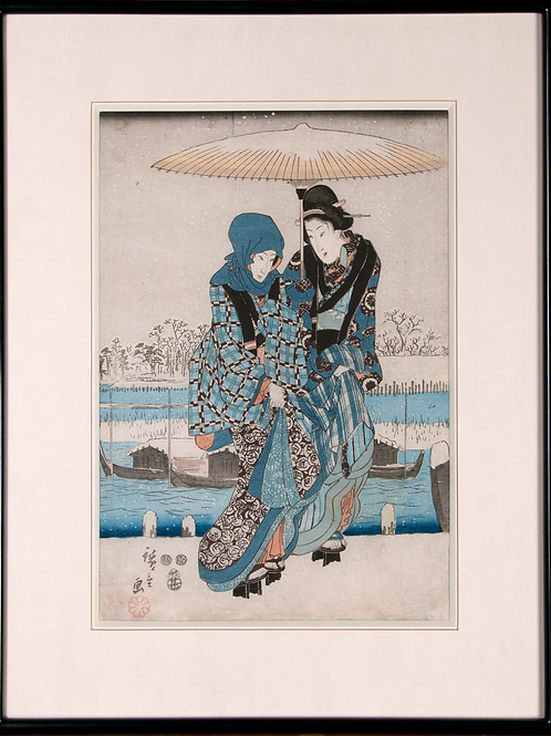 Utagawa Hiroshige - Kurtisanen