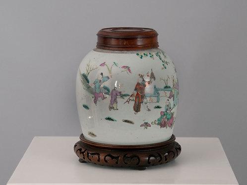 Chinesische Vase, Steingut
