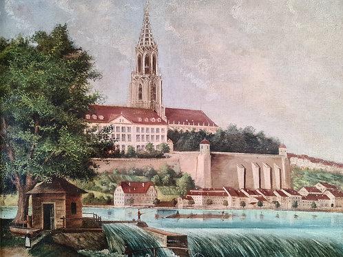Ansicht des Berner Münsters vom Schwellenmätteli