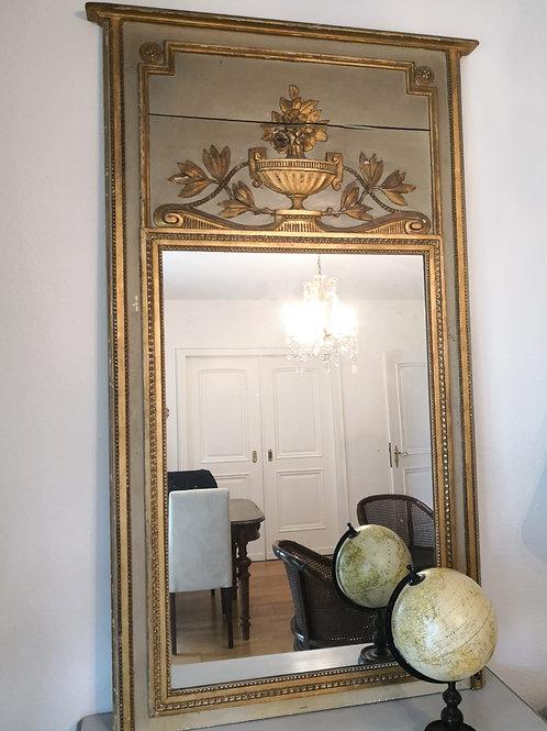 Trumeau Spiegel, Directoire um 1795, Gris de Versailles