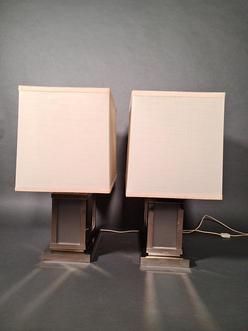 1 Paar Tischlampen, Art Deco