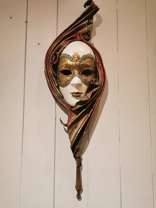1 Paar venezianische Masken, alt