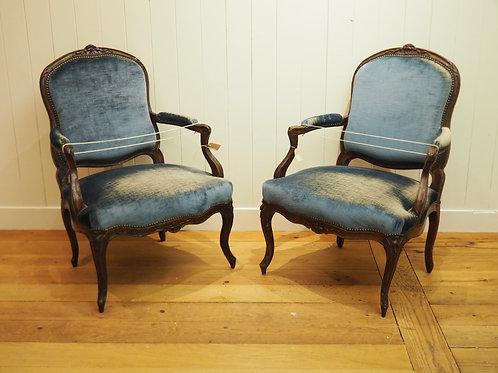 1 Paar Fauteuil um ca. 1740