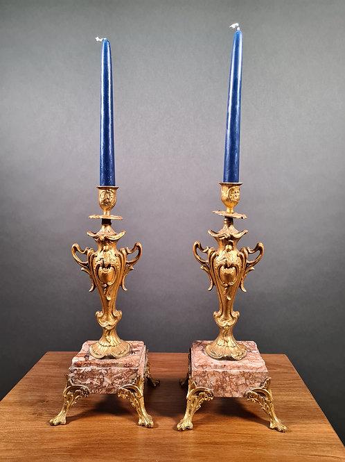Paar Kerzenständer Napoleon III