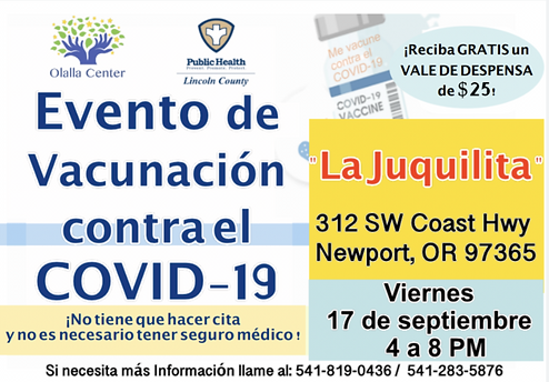 Olalla Center Sept 17 Vaccine Event Spanish.png