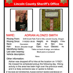 Search For Missing Man Discontinued