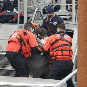 Coast Guard Rescues Man After He Fell From The Rocks