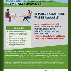 Wildfire FEMA Help Available