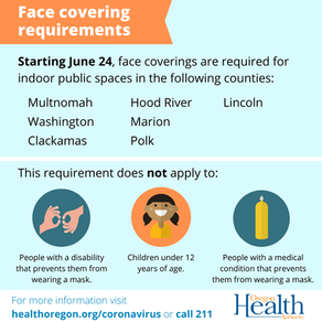 Lincoln County Public Health Face Covering Directive Effective Now