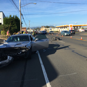 Motorcyclist Seriously Injured In Hwy 101 Crash