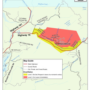 Echo Mtn Fire Evacuation Level Downgrade 9/17