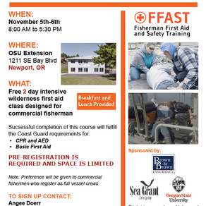 Commercial Fishing First Aid And Safety Training