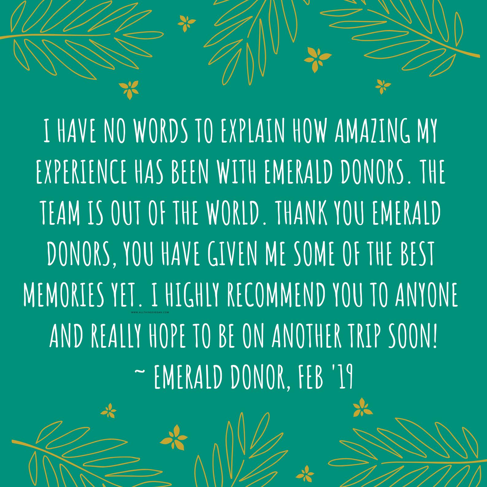 Donor Feedback