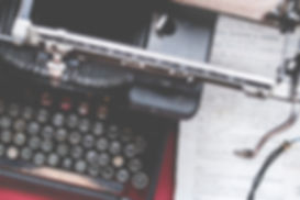Vintae typewriter and letter