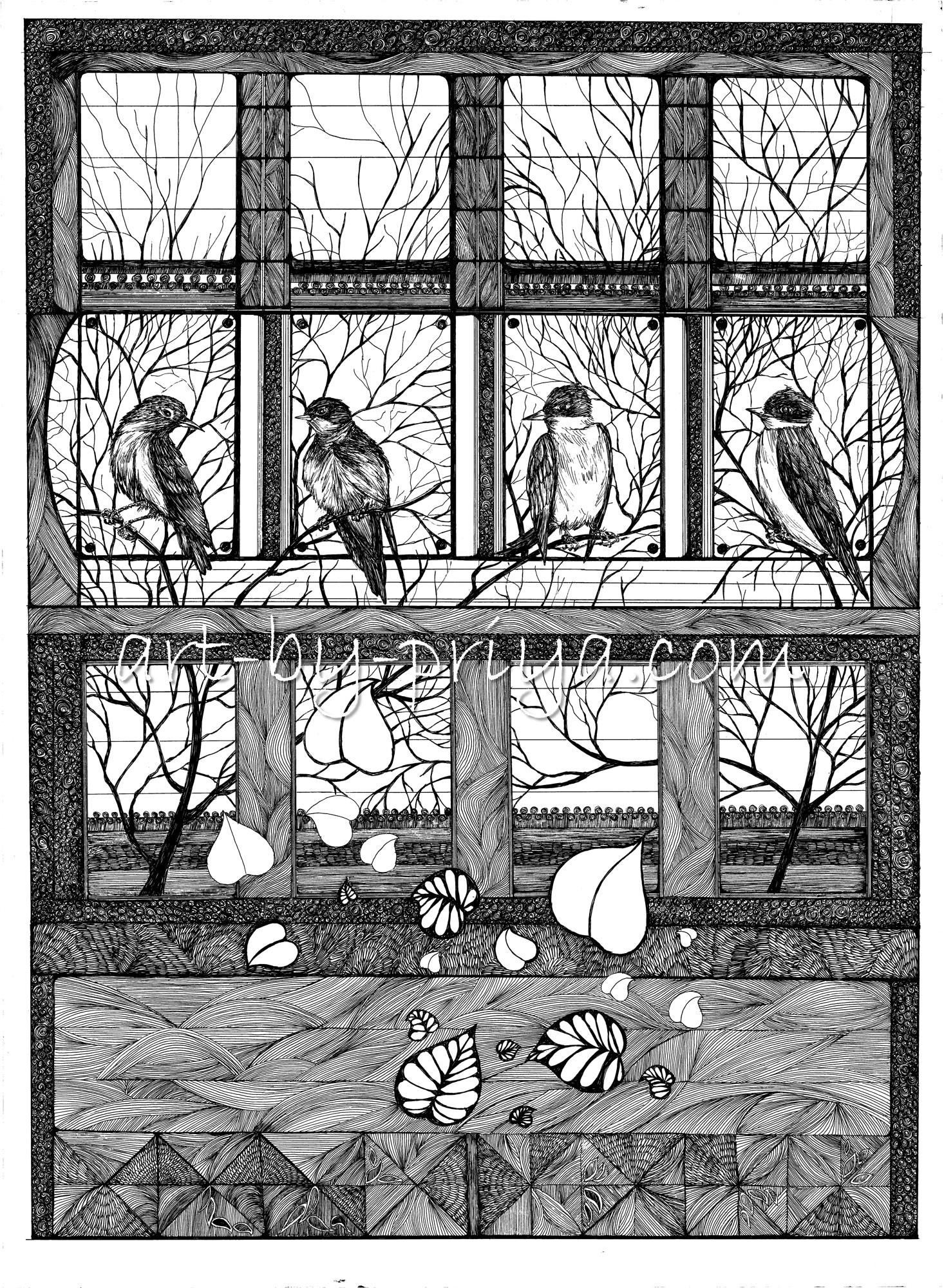 BIRDS ON MY WINDOW PP26