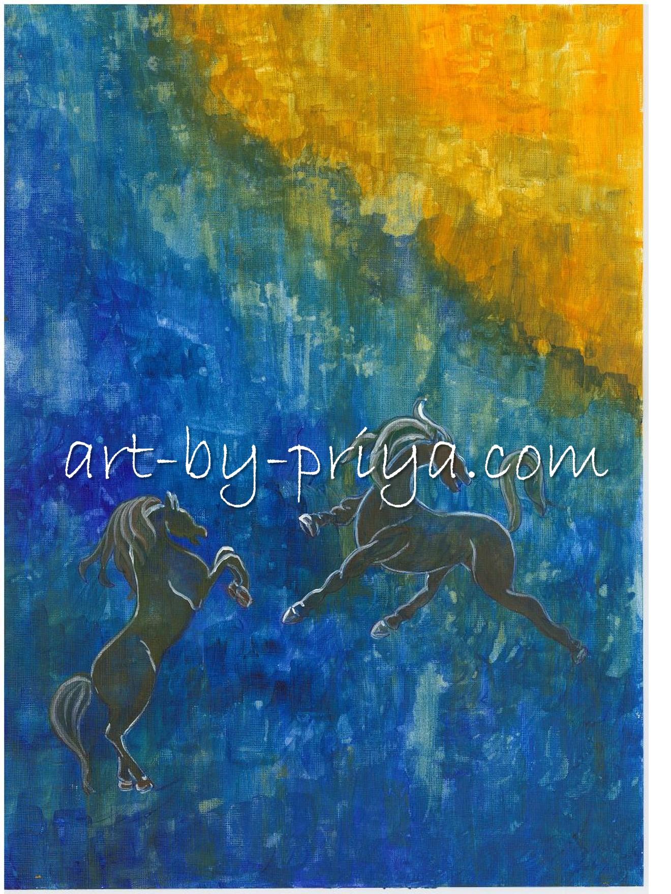 HORSES ACRYLIC2