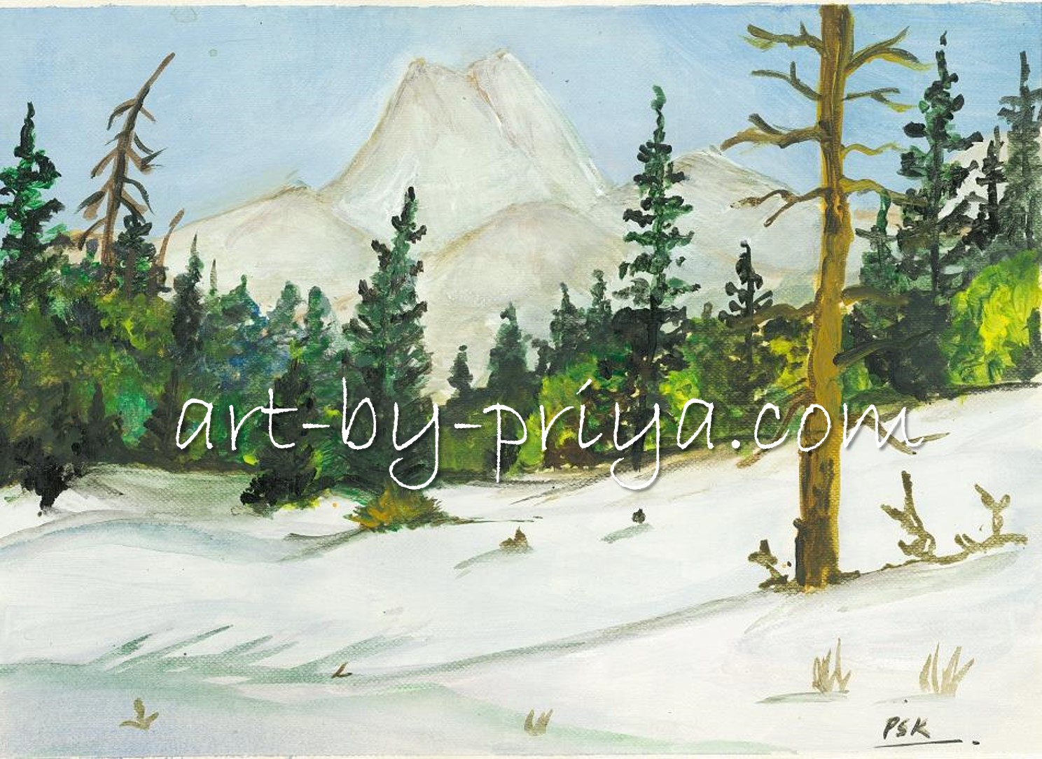 WINTER SNOW   ACRYLIC29