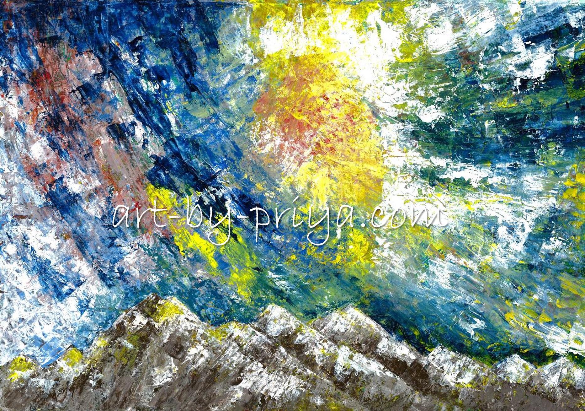 SUNNY MOUNTAIN ACRYLIC14