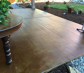 Amber Acid Stain On Natural Concrete